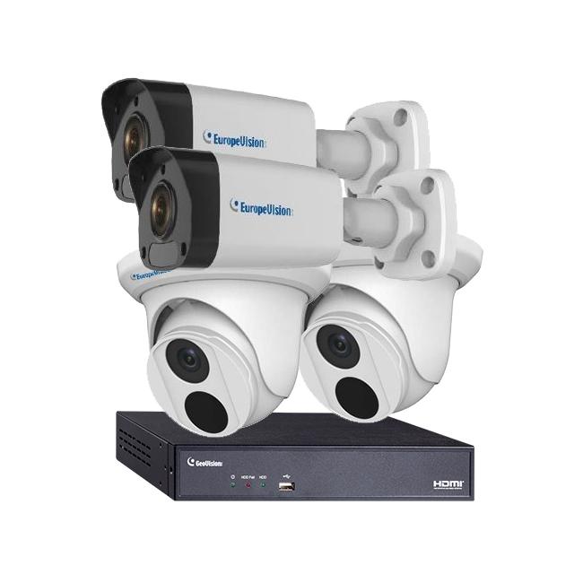 Комплект видеонаблюдения для склада - 4 IP-камеры + IP-видеорегистратор